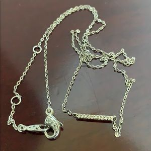 Nadri Jewelry - Necklace silver plated Nadri